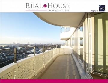 REAL HOUSE: FLOW TOWER – Exklusive 3 Zi. Wohnung in Bayenthal mit traumhafter Ausblick über Köln, 50968 Köln / Bayenthal (Rodenkirchen), Etagenwohnung