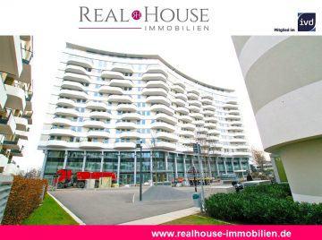 REAL HOUSE: FLOW TOWER – Exklusive 2-Zimmer Wohnung in direkter Rheinnähe in Bayenthal!,