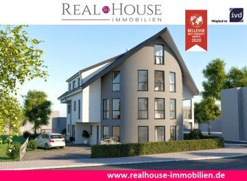 REAL HOUSE: Exklusive EG-Neubauwohnung mit Terrasse inkl. KG-Hobbyraum (24,21 m2) + PKW Stellplatz, 50259 Pulheim / Sinnersdorf, Maisonettewohnung
