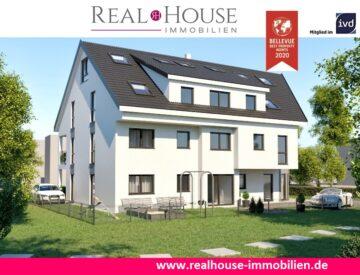 REAL HOUSE: Exklusive EG-Neubauwohnung mit Süd-Terrasse inkl. KG-Hobbyraum (24,52 m2) & Stellplatz, 50259 Pulheim / Sinnersdorf, Maisonettewohnung